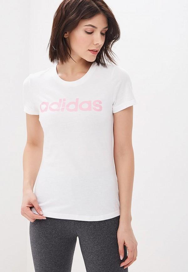 женская спортивные футболка adidas, белая