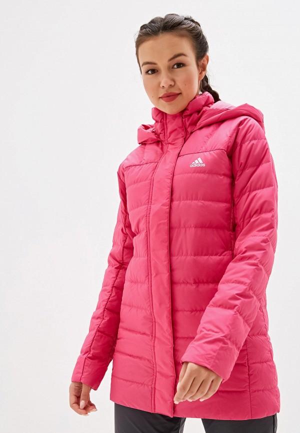 Фото - Пуховик adidas розового цвета