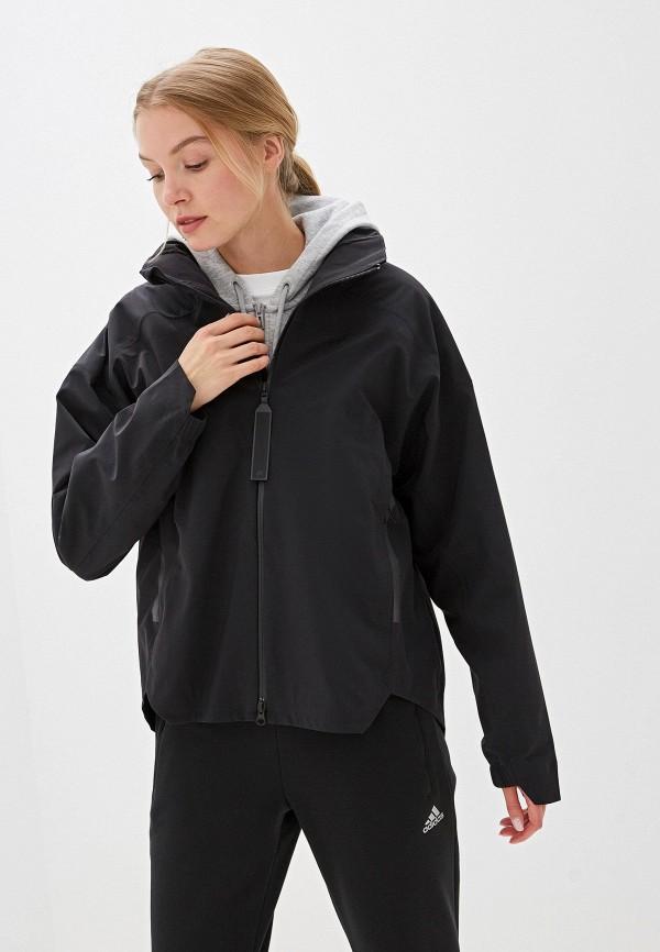 женская куртка adidas, черная