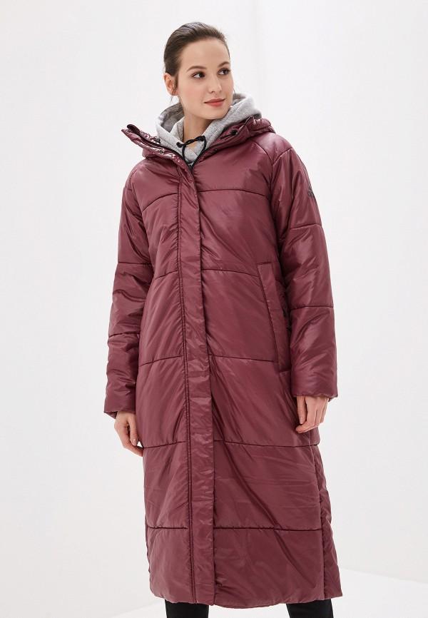 женская куртка adidas, бордовая