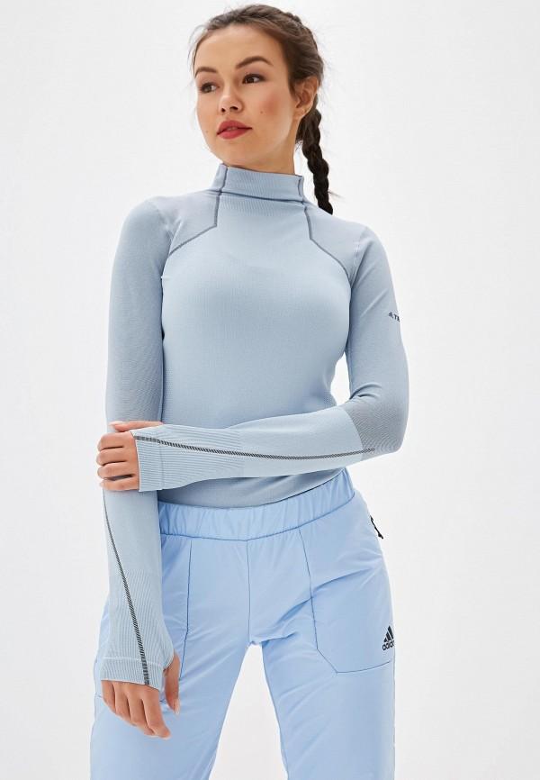 Фото - Лонгслив спортивный adidas голубого цвета