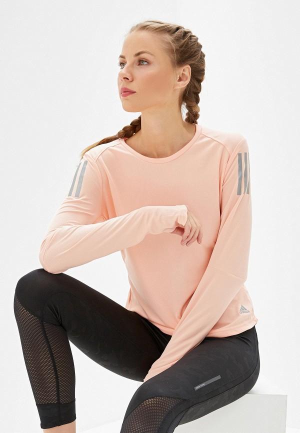 Фото - Лонгслив adidas розового цвета