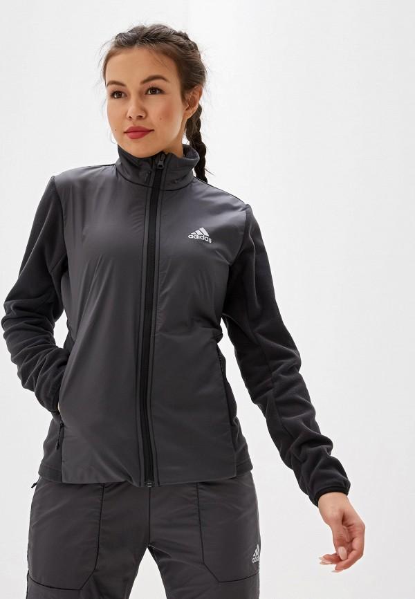 Фото - Олимпийка adidas серого цвета