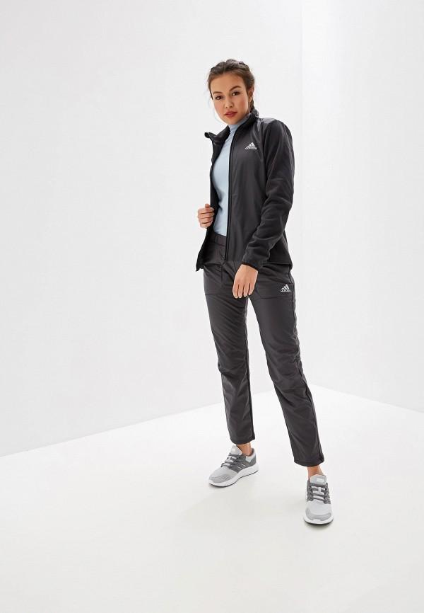 Фото 2 - Олимпийка adidas серого цвета