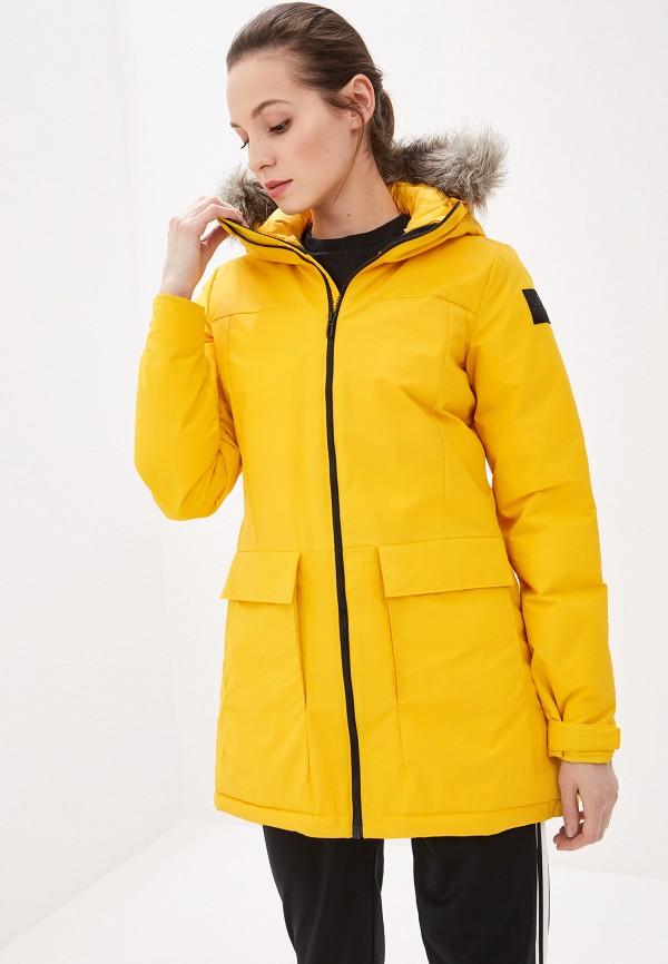 женская куртка adidas, желтая