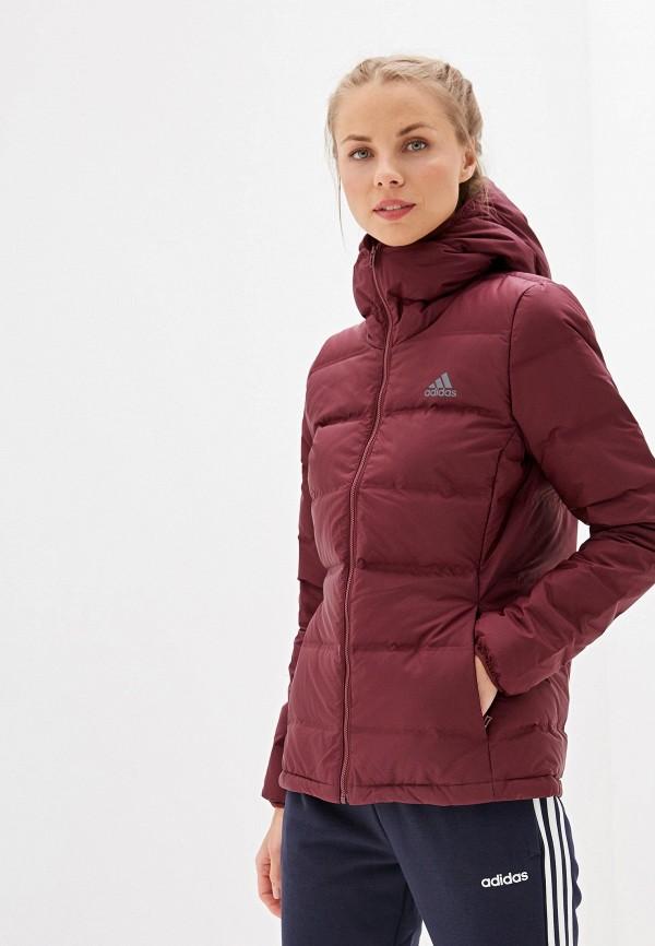 Фото - Пуховик adidas бордового цвета