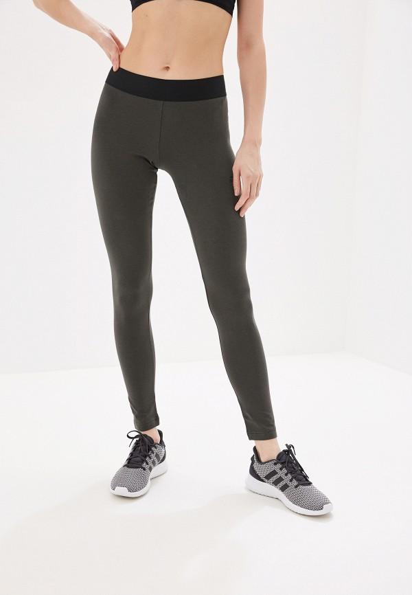 Купить Тайтсы adidas цвета хаки