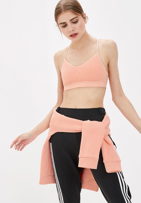женский спортивный костюм adidas, розовый