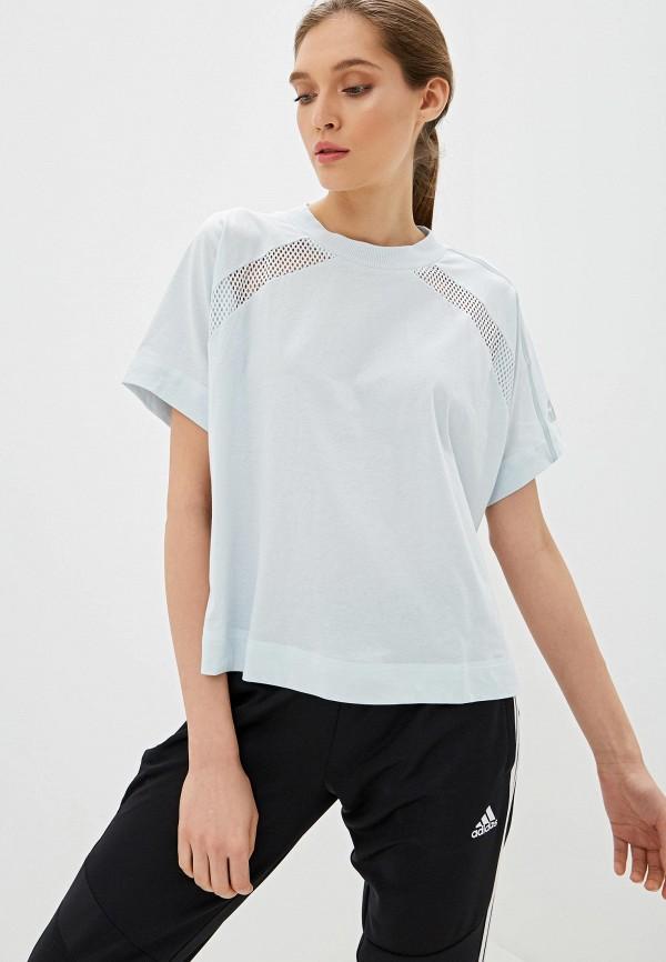 Футболка спортивная adidas adidas AD002EWFKAS9 футболка женская adidas trefoil tee цвет голубой cv9891 размер 34 42