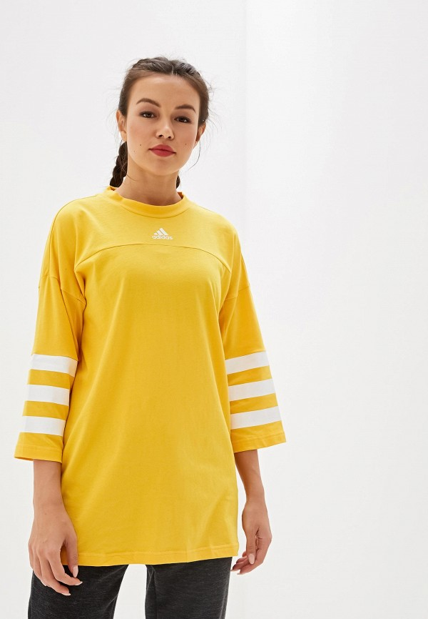 Футболка adidas adidas AD002EWFKAT1 футболка женская adidas trefoil tee цвет желтый cv9893 размер 42 48
