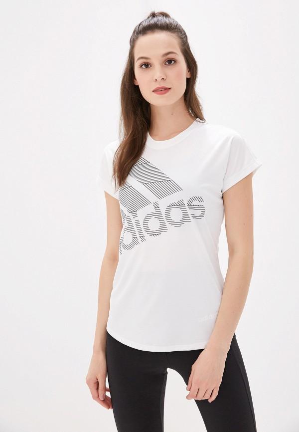 женская футболка adidas, белая