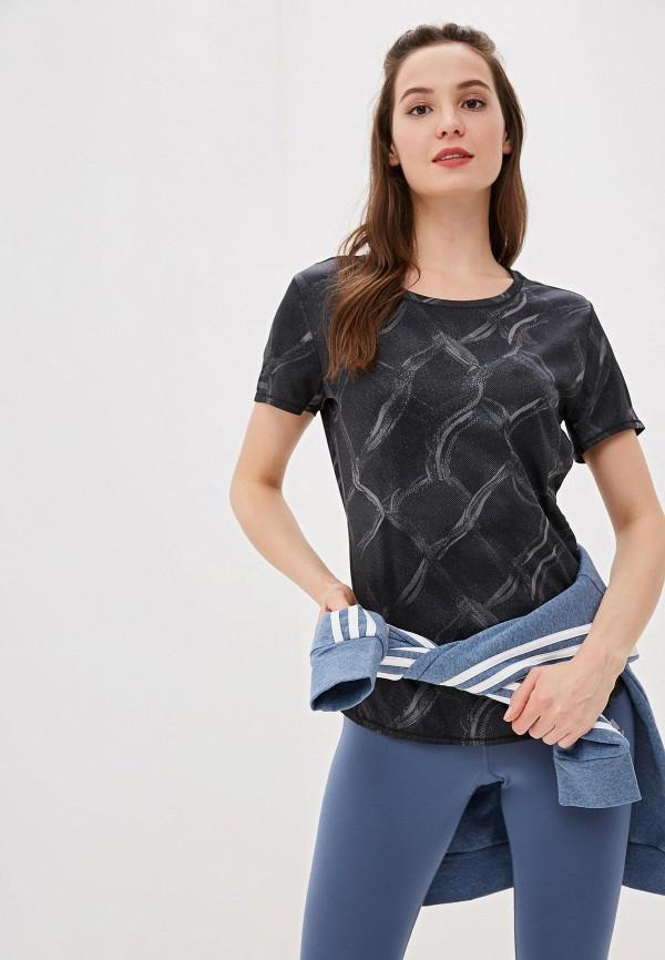женская футболка adidas, серая