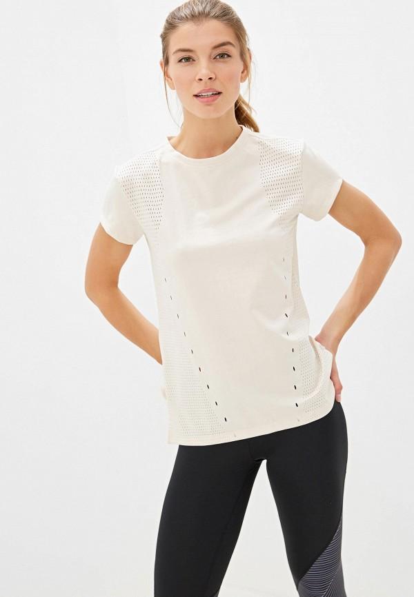 женская футболка adidas, бежевая