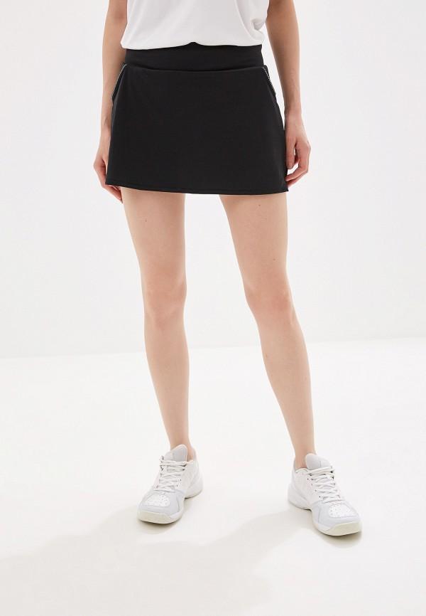 Купить Юбку-шорты adidas черного цвета