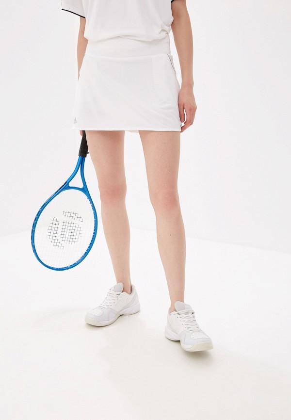 женская спортивные юбка adidas, белая