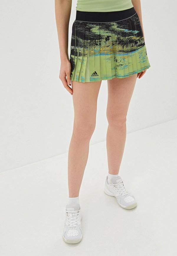 женская спортивные юбка adidas, зеленая