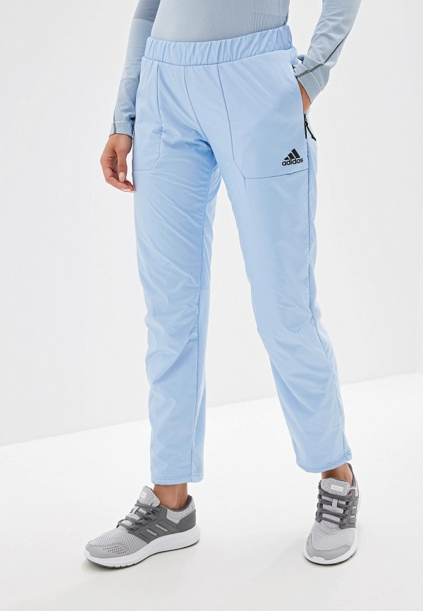 женские спортивные брюки adidas, голубые