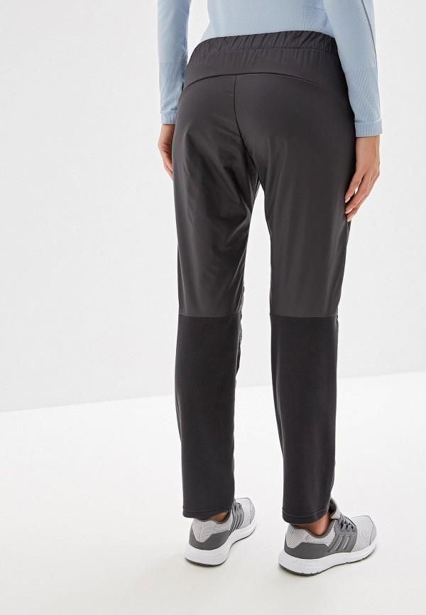 Фото 3 - Брюки утепленные adidas серого цвета
