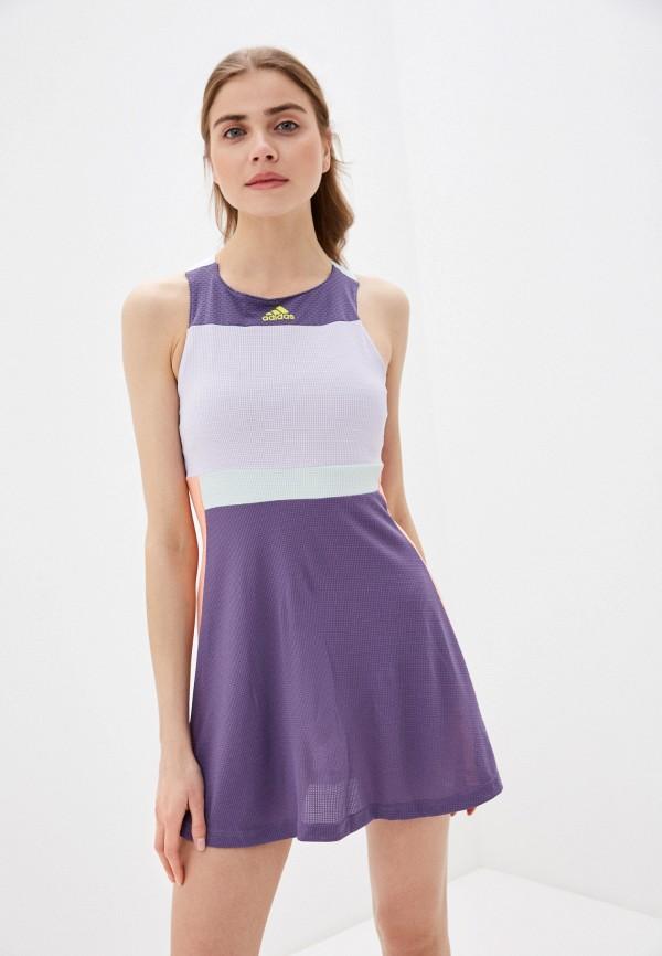 женское спортивные платье adidas, фиолетовое
