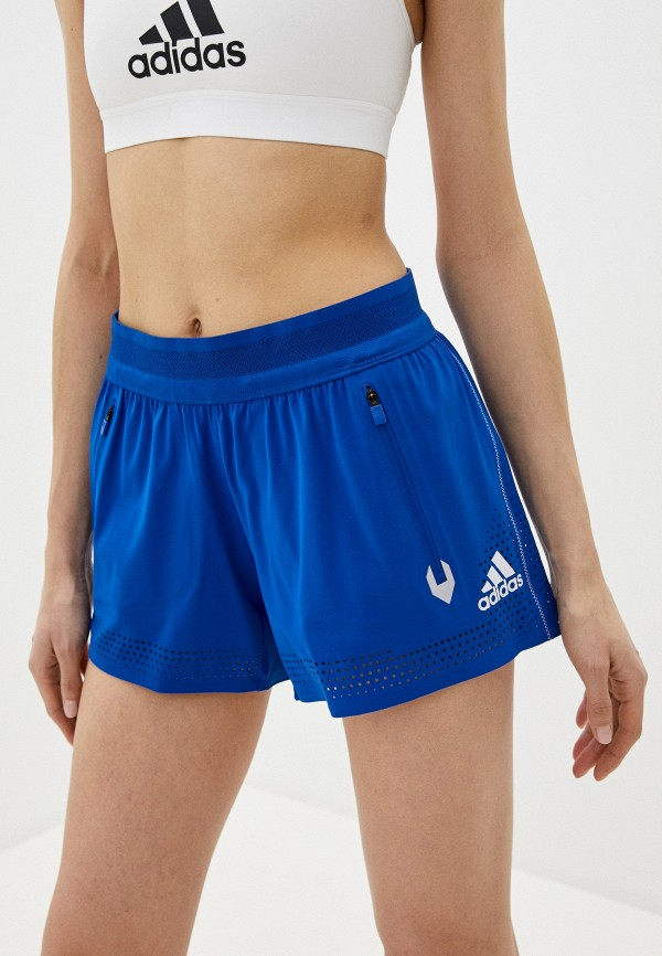 женские спортивные шорты adidas, синие