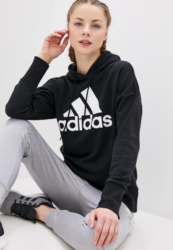 женские худи adidas, черные