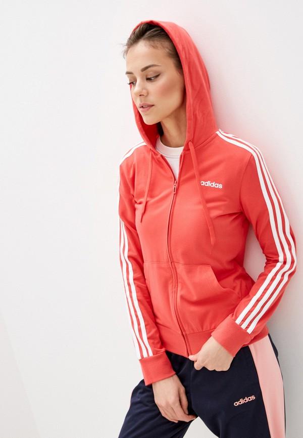женская спортивные толстовка adidas, красная