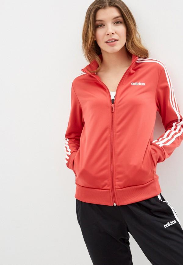 женская олимпийка adidas, красная