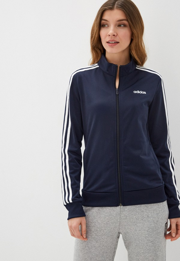 женская олимпийка adidas, синяя