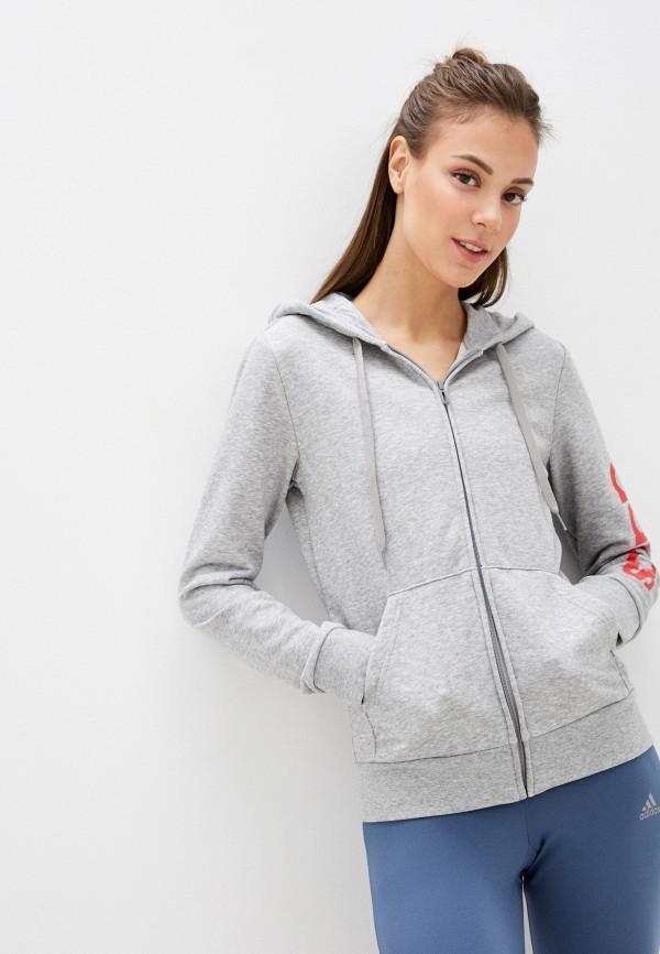 женская спортивные толстовка adidas, серая