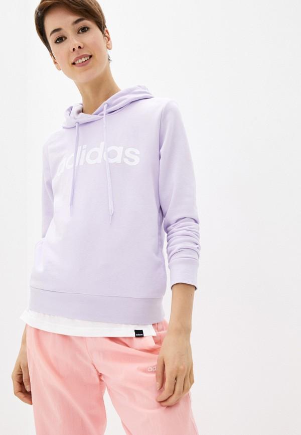 женские худи adidas, фиолетовые