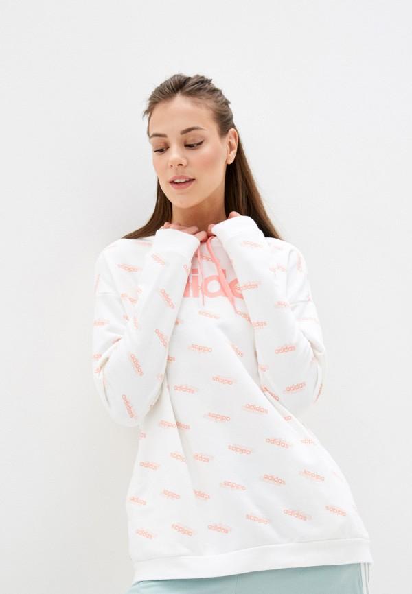 женские худи adidas, белые