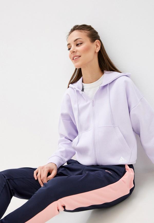 женская толстовка adidas, фиолетовая