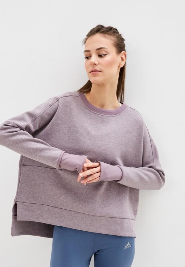 женский свитшот adidas, фиолетовый
