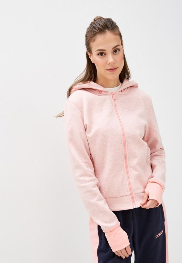 женская толстовка adidas, розовая