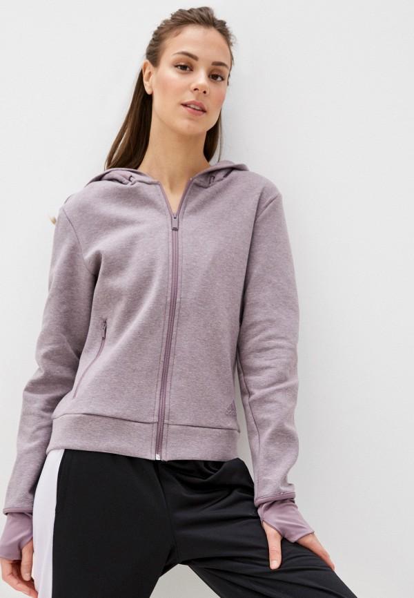 женская спортивные толстовка adidas, фиолетовая