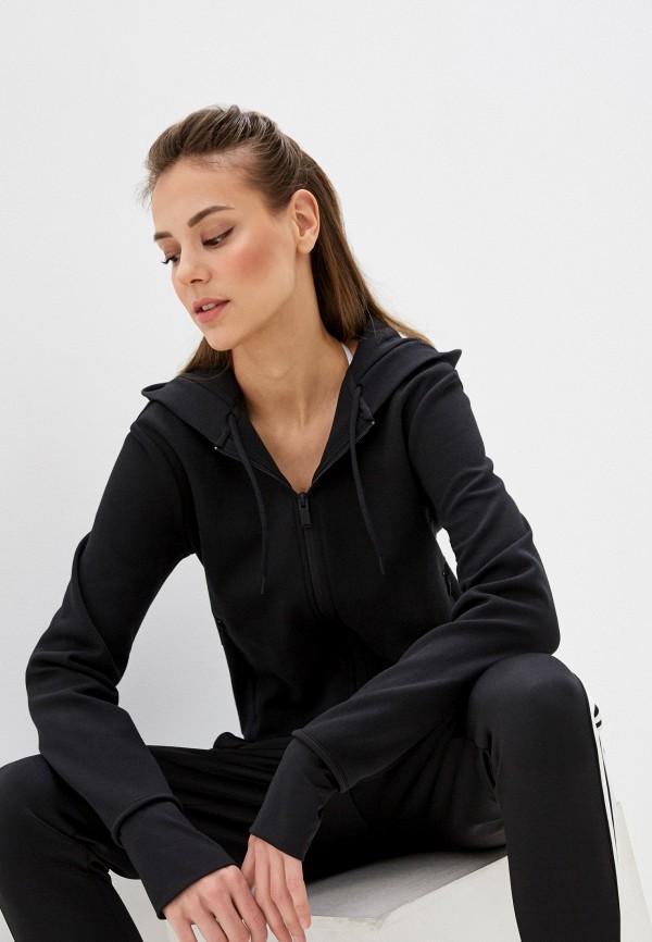 женская спортивные толстовка adidas, черная