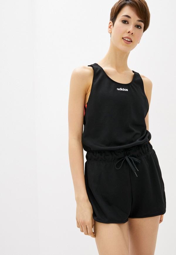 женский спортивные комбинезон adidas, черный