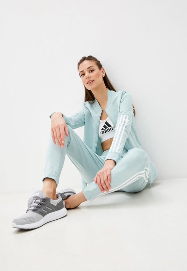 женский спортивный костюм adidas, бирюзовый
