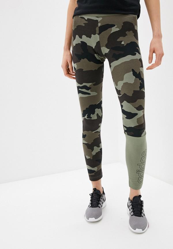 женские спортивные леггинсы adidas, хаки