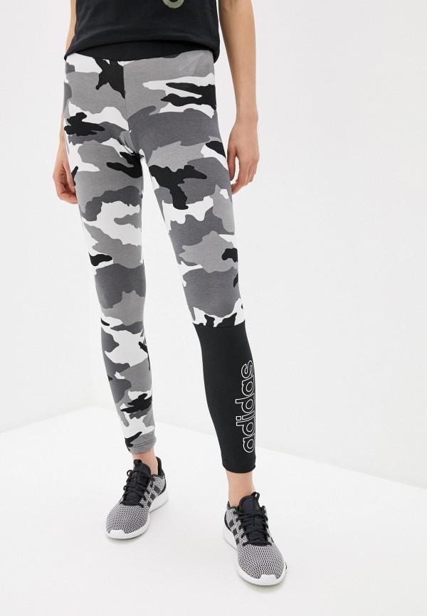 женские спортивные леггинсы adidas, серые