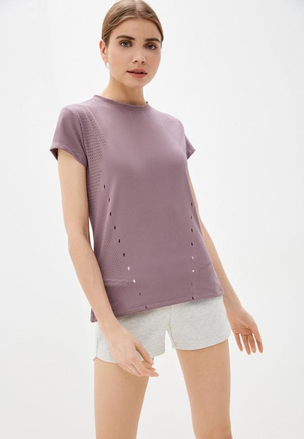 женская футболка adidas, фиолетовая