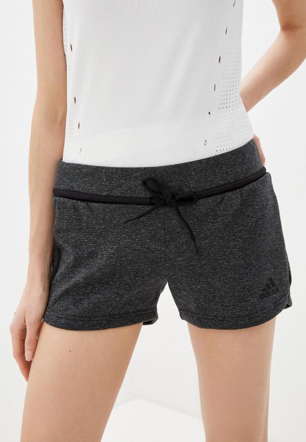 женские спортивные шорты adidas, серые