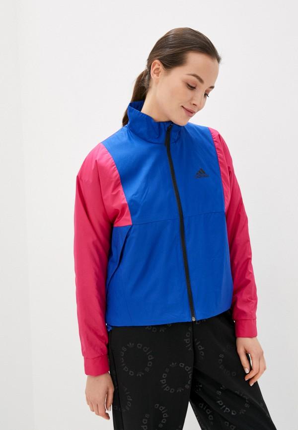 женская спортивные куртка adidas, синяя