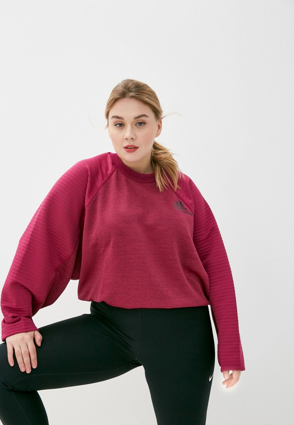 женский свитшот adidas, розовый