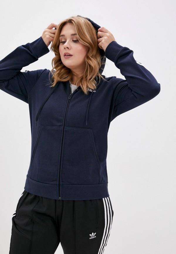 женская толстовка adidas, синяя