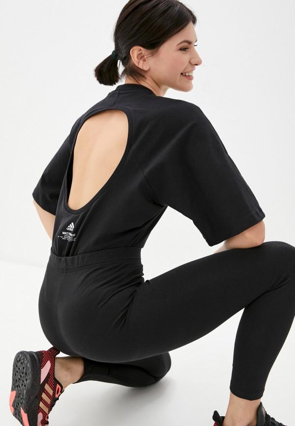 женские боди adidas, черные