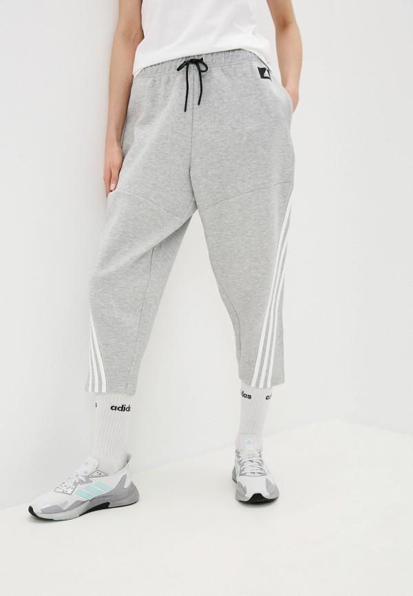 женские спортивные брюки adidas, серые