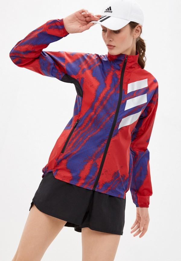 женская спортивные куртка adidas, разноцветная