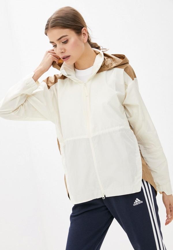 женская ветровка adidas, бежевая