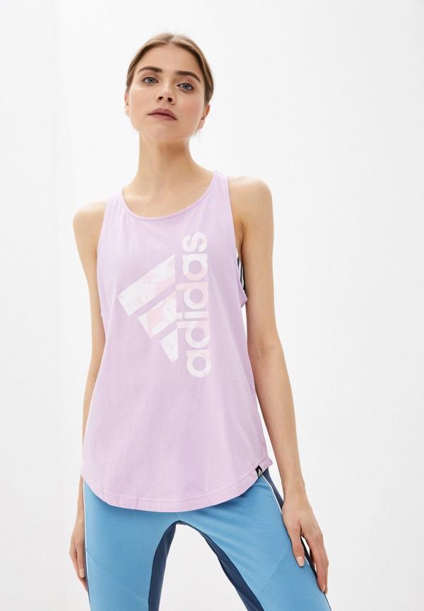 женская спортивные майка adidas, фиолетовая